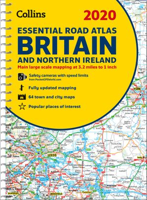 2020 Collins Essential Road Atlas Britain and Northern Ireland Spiral bound New edition by No Author