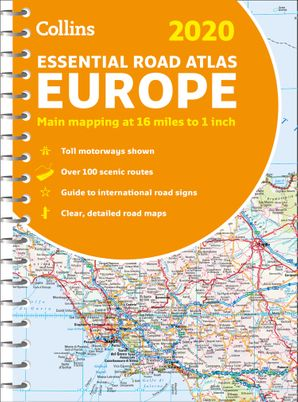 2020 Collins Essential Road Atlas Europe Spiral bound New edition by No Author