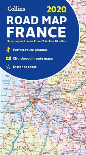 2020 Collins Map of France  New edition by No Author