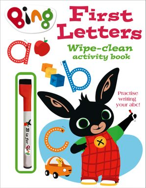 First Letters Wipe-clean activity book (Bing) Paperback  by
