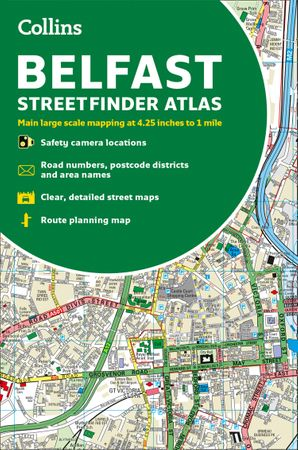 Collins Belfast Streetfinder Colour Atlas Paperback  by No Author
