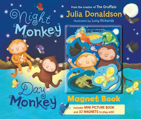 Night Monkey, Day Monkey Magnet Book - Julia Donaldson, Illustrated by Lucy Richards