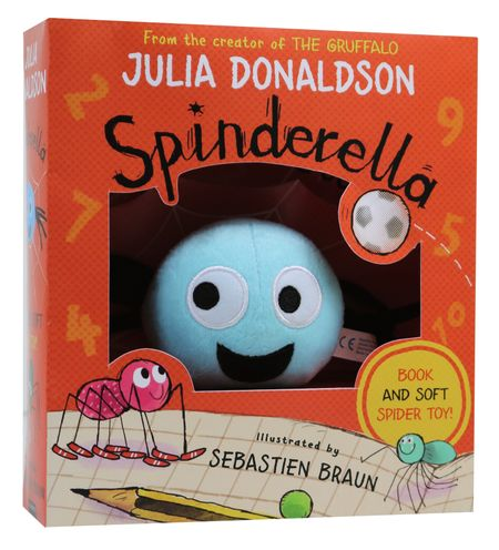 Spinderella Book & Plush Set - Julia Donaldson, Illustrated by Sebastien Braun