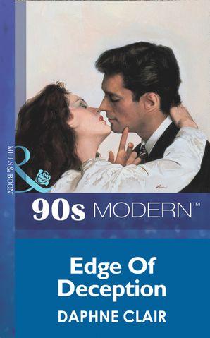 Edge Of Deception (Mills & Boon Vintage 90s Modern)