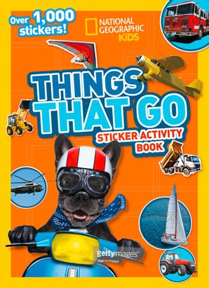 Things That Go Sticker Activity Book: Over 1,000 stickers! Paperback  by No Author