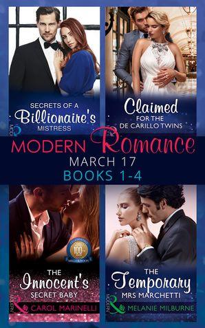 Modern Romance March 2017 Books 1 - 4 eBook  by Sharon Kendrick