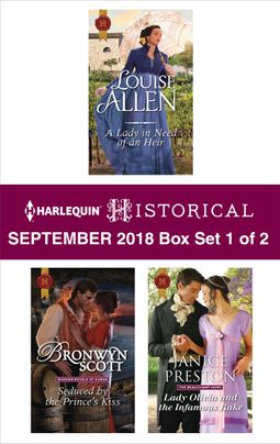 Harlequin Historical September 2018 - Box Set 1 of 2